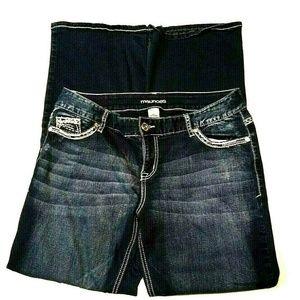 Maurices Juniors Jeans 11/12 Short Embellished